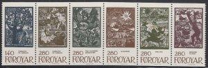 Faroe Islands 1984 MNH Sc #120a Fairytale Illustrations by Elinborg Lutzen Pa...