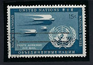 UNITED NATIONS C3a 15¢ PRUSSIAN BLUE USED