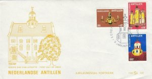 1980, Netherland Antilles: 210th Anniv. Ft. Church, Unaddressed, FDC (D8260)