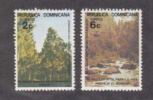 Dominican Republic Scott #848-849 MH