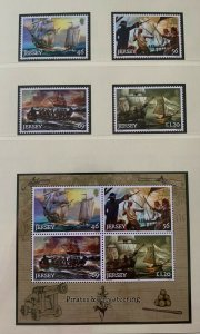 JE49) Jersey 2014 Pirates & Privateering - Ships set of 4 & M/S MUH