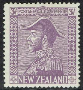 NEW ZEALAND 1926 KGV ADMIRAL 3/-