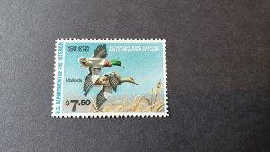 RW 47, Green Winged Teal, Mint OGNH, CV $29