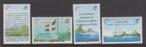 1989 St. Lucia Scott # 942-945 PHILEXFRANCE MNH
