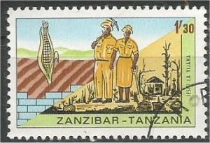 ZANZIBAR, 1967, used 1.30sh, Volunteer (Young) Workers, Scott 356