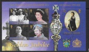 PITCAIRN ISLANDS SGMS613 2002 GOLDEN JUBILEE FINE USED