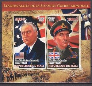 Mali, 2012 issue. War Leaders. F. Roosevelt & A. Brooke s/sheet. ^