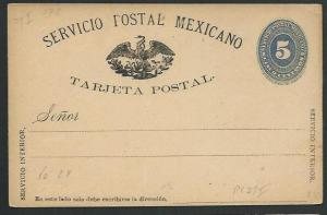MEXICO Early 5c postcard unused............................................66223