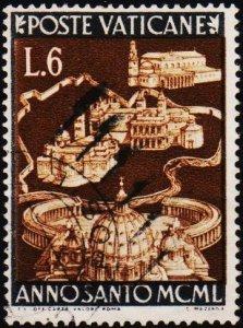 Vatican City. 1949 6L S.G.152 Fine Used