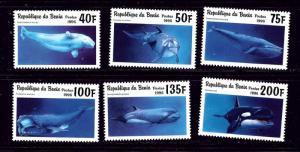 Benin 936-41 MNH 1996 Marine Mammals