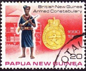PAPUA NEW GUINEA 1978 QEII 20t Multicoloured Police Force SG356 FU