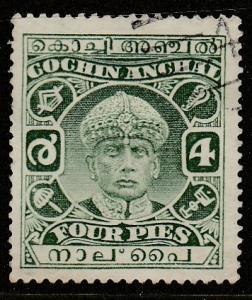 Inde / Cochin  1933  Scott No. 42  (O)