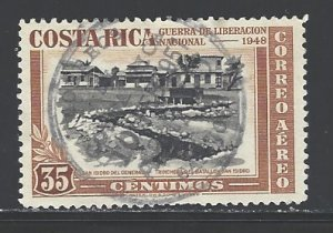 Costa Rica Sc # C192 used (DT)