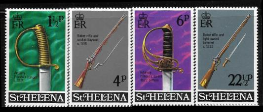 St. Helena 263 - 66 mnh 2013 SCV $4.50 - weapons