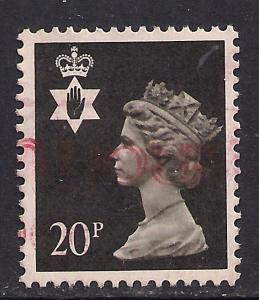 Northern Ireland GB 1989 QE2 20p Black Machin SG NI 51 ( B10 )