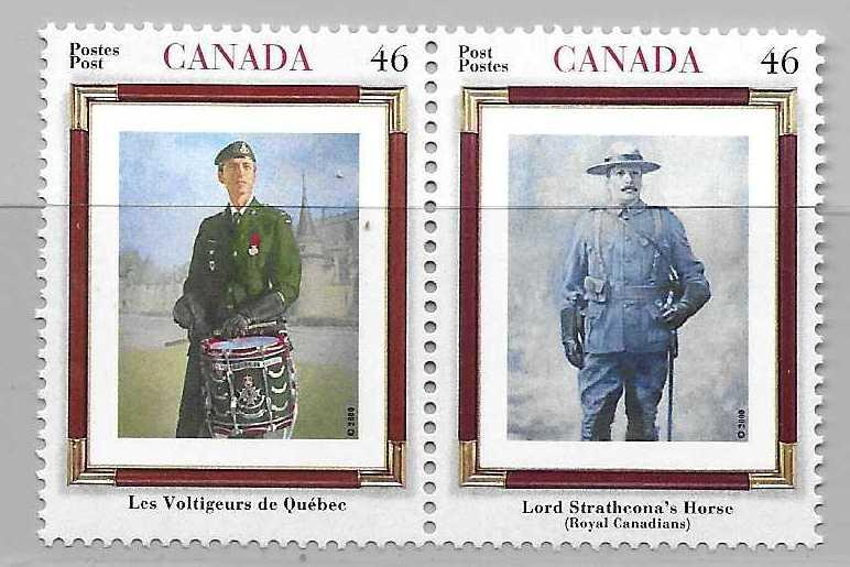 Canada 1877a Regiments pair MNH