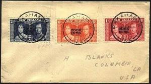 COOK IS 1948 cover to USA - RAKAHANGA cds..................................20213