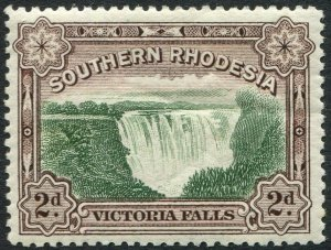 SOUTHERN RHODESIA-1932 2d Green & Chocolate Sg 29 MOUNTED MINT V48915