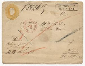 German States Prussia Mi #GAA10 on Embossed Postal Stationery Cover