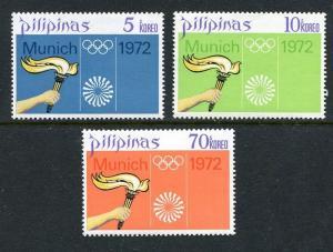 Philippines 1163-1165, MNH, Olympics 1972