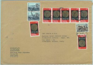 84513 -  ETHIOPIA  - Postal History -   COVER to ITALY  1968 - WATER DAM coins