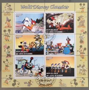 Cote d´Ivoire Ivory Cost 2003 M/S Disney Cartoon Animation Movie Stamps CTO (2)