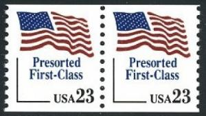 2605 Presorted First Class F-VF MNH coil pair