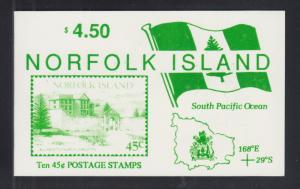 Norfolk Island Sc 533 MNH. 1993 45c Tourist Sites, Intact Booklet, VF