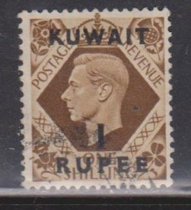 KUWAIT Scott # 79 Used - GB Stamp With Overprint