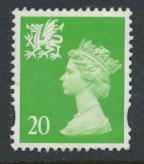Great Britain Wales  SG W79 SC# WMMH70 Used  see details 1 center band