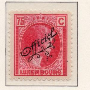 Luxemburg 1926-27 Officials Early Issue Fine Mint Hinged 75c. Optd 293079