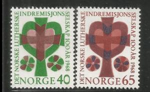 NORWAY, 517-518, H,CROSS AND HEART