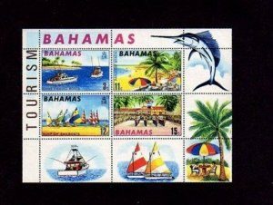Bahamas MNH S/S Tourism Fishing Sailboat Beech 1969