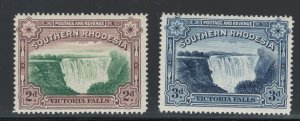 Southern Rhodesia 1935 Victoria Falls Scott # 37 - 37A MH