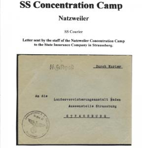 1940s Germany Natzweiler Concentration Camp SS Feldpost Courier Cover Commandant