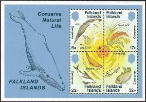 Falkland Islands 1984 Scott # 415a Mint H Souvenir Sheet Ships Free With Another