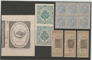 Spain Antilles Cinderella Revenue fiscal mix collection stamp ml33 Extra Nice