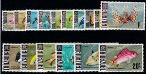 Tanzania1965 SC 5-18 MNH Set