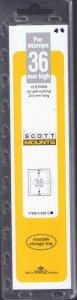Scott / Prinz Pre-Cut 36 High Strips (15) 215mm Long Stamp Mounts 215x36 Clear