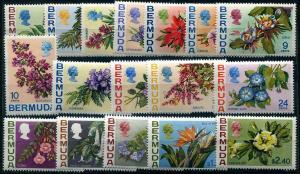 HERRICKSTAMP BERMUDA Sc.# 255-71 1970 Flowers NH Stamps Cat. Value $54.00