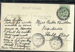 CAPE OF GOOD HOPE COVER (P3006B)  1905 KE 1/2D ON PPC TO  KALK BAY