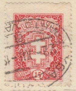 Lithuania Litauen Lituanie Lituania 1926 15c Used A8P11F128