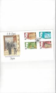 Jersey 372-5 T. B. Davis  FDC Jersey Post Office