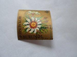 burundi stamp cto og mint hinged. # 4