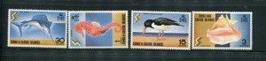 Turks & Caicos Islands MNH 232-5 Bird & Marine Life