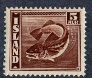 Iceland Scott #219a 5a Herring (1939) MLH
