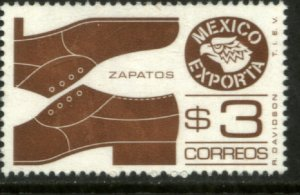 MEXICO EXPORTA 1118, $3P. SHOES RED BROWN UNWMKD Paper 1 MNH