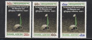 BANGLADESH #39-41  1973  MARTYRS WAR OF LIBERATION      MINT VF NH O.G