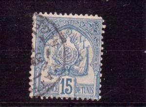 Tunisia  Scott#  15  Used