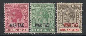 Bahamas, Scott MR6-MR8 (SG 96-97, 99), MHR